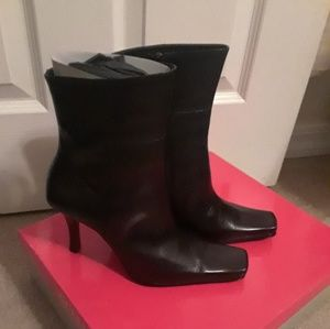 Guess heeled booties.